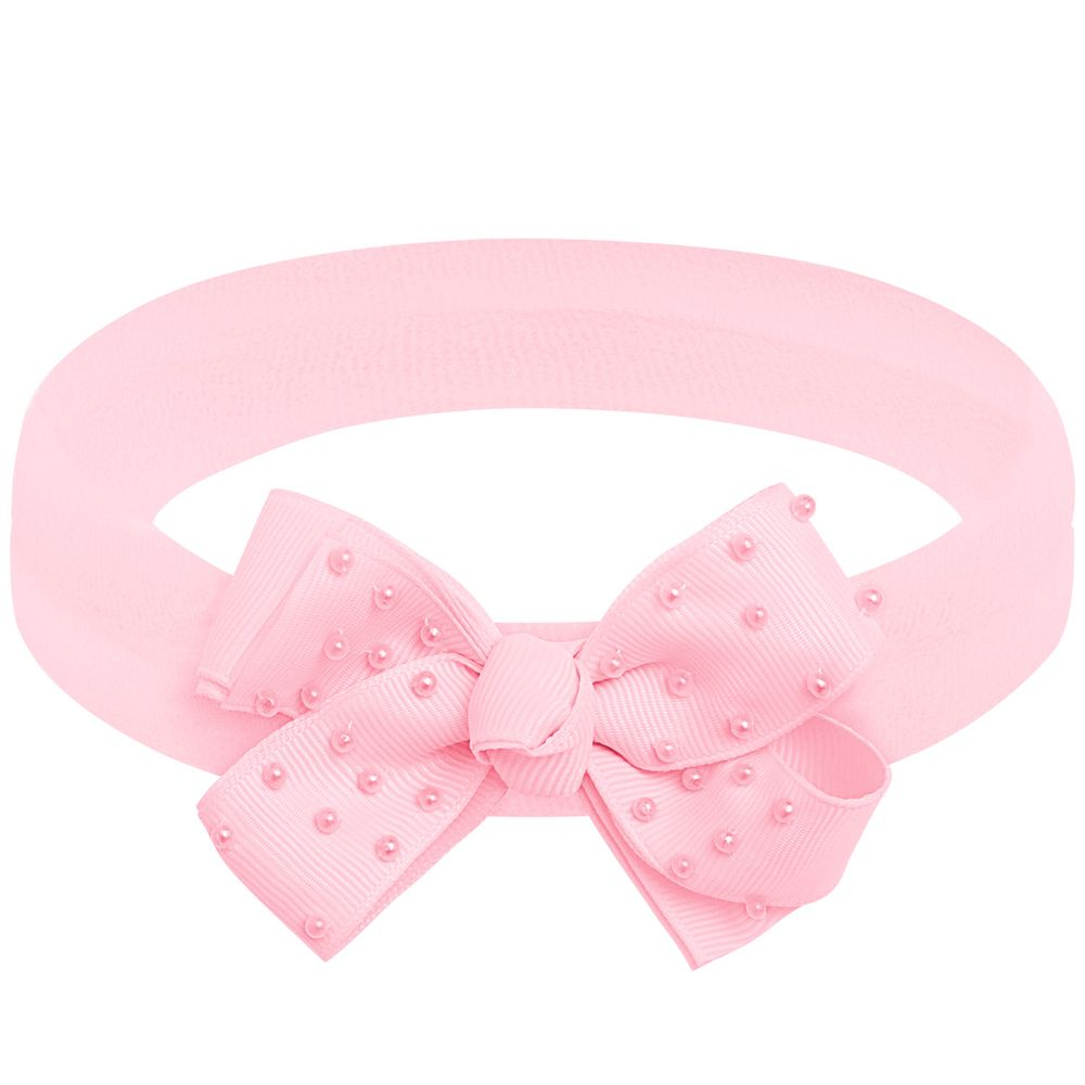 00549006046_A-moda-bebe-menina-acessorios--faixa-de-cabelo-laco-perolas-rosa-roana-no-bebefacil-loja-de-roupas-enxoval-e-acessorios-para-bebes