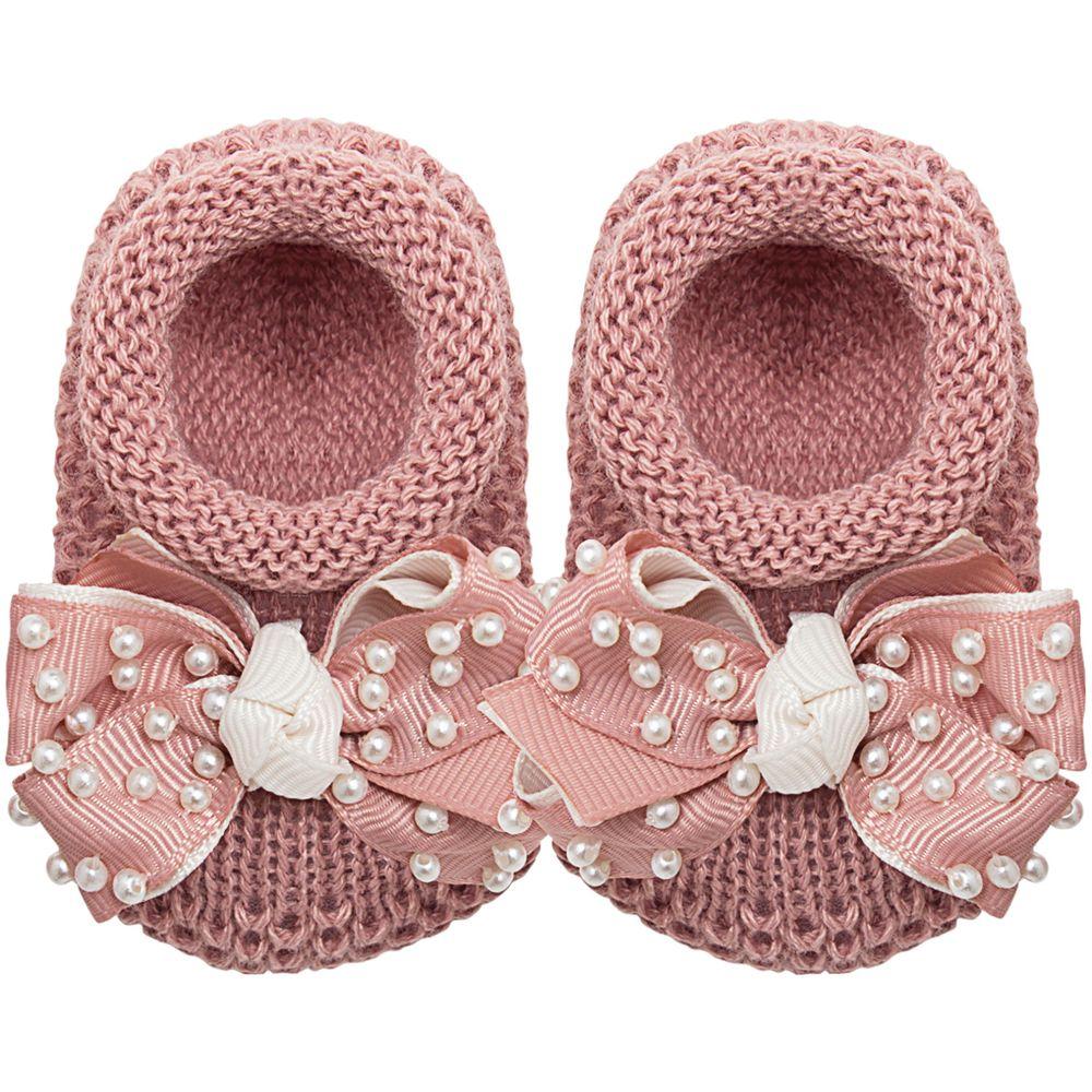 01429009032_A-moda-bebe-menina-sapatinho-tricot-laco-e-perolas-rose-roana-no-bebefacil-loja-de-roupas-enxoval-e-acessorios-para-bebes