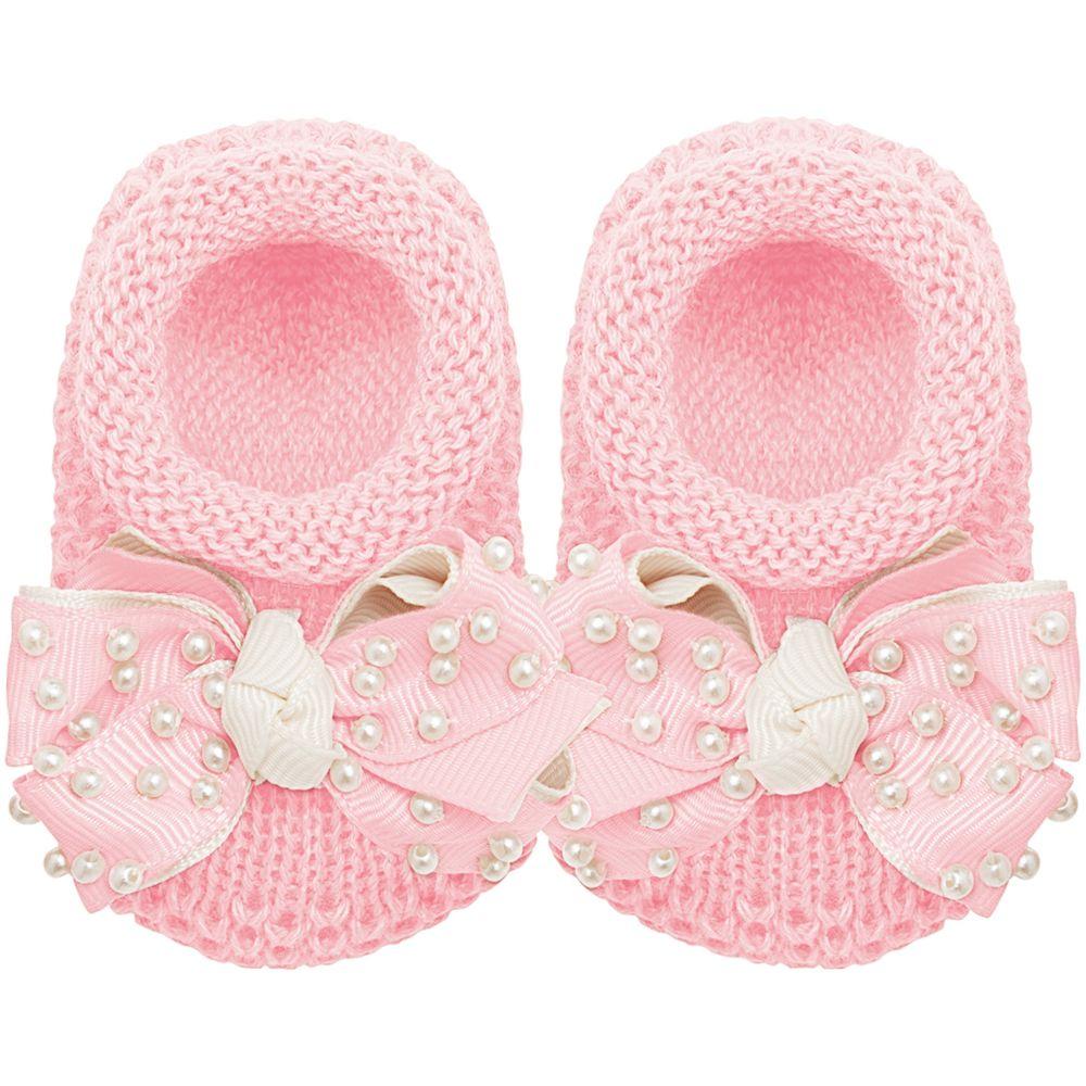 01429009046_A-moda-bebe-menina-sapatinho-tricot-laco-e-perolas-rosa-roana-no-bebefacil-loja-de-roupas-enxoval-e-acessorios-para-bebes