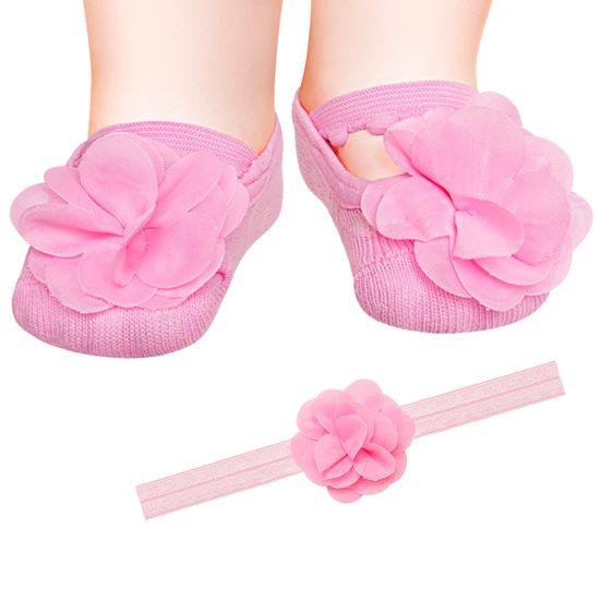 PK6934L-RB_A-moda-bebe-menina-kit-faixa-meia-sapatilha-flor--rosa-puket-no-bebefacil-loja-de-roupas-enxoval-e-acessorios-para-bebes
