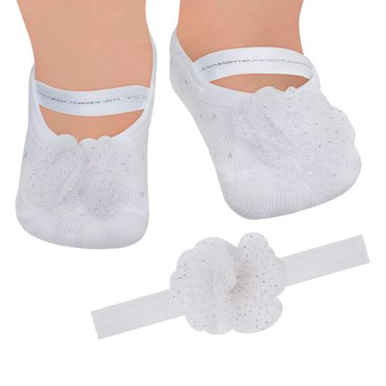 PK6934L-FG_A-moda-bebe-menina-kit-faixa-meia-sapatilha-flor-gliter-branca-puket-no-bebefacil-loja-de-roupas-enxoval-e-acessorios-para-bebes