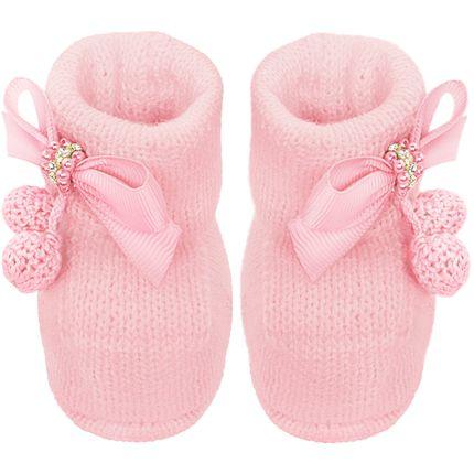 01419021046_A-moda-bebe-menina-sapatinhos-botinha-em-tricot-laco-perolas-strass-pompom-rosa-roana-bebefacil-loja-de-roupas-enxoval-e-acessorios-para-bebes