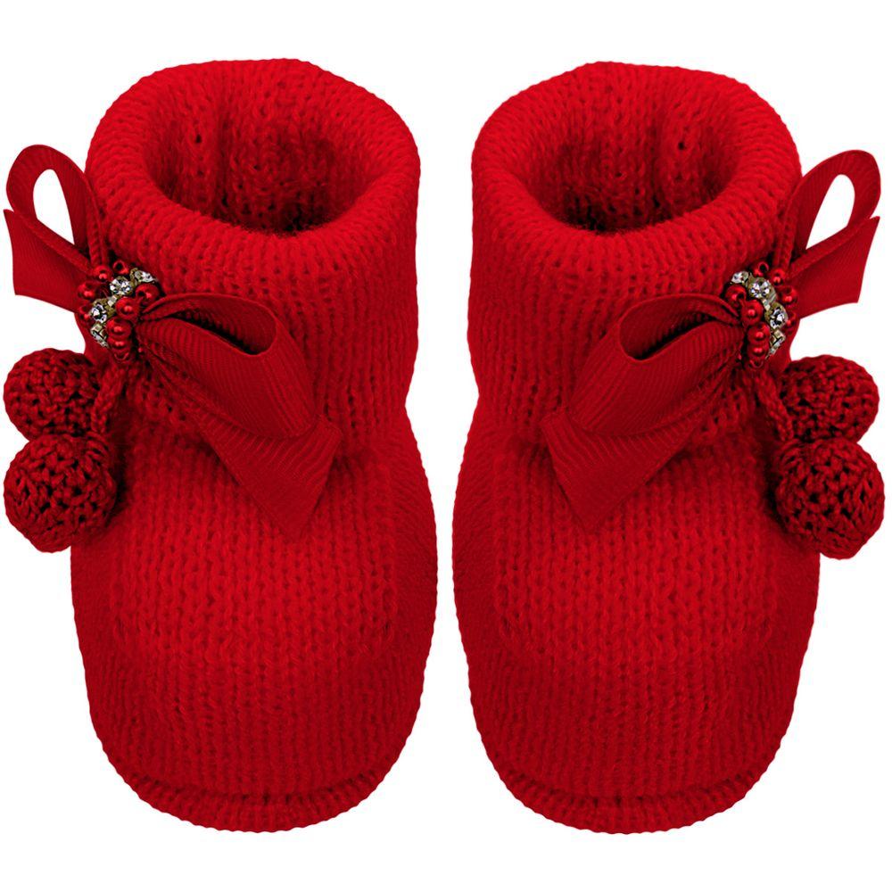 01419021007_A-moda-bebe-menina-sapatinhos-botinha-em-tricot-laco-perolas-strass-pompom-rosa-roana-bebefacil-loja-de-roupas-enxoval-e-acessorios-para-bebes