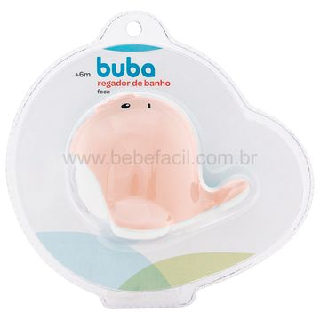 BUBA11852-F-Regador-de-Banho-para-bebe-Foca-Rosa-6m---Buba