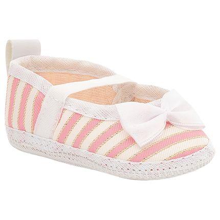 BBG-32145LE-A-Sapatilha-para-bebe-Listras-Rosa-Branco---Baby-Gut