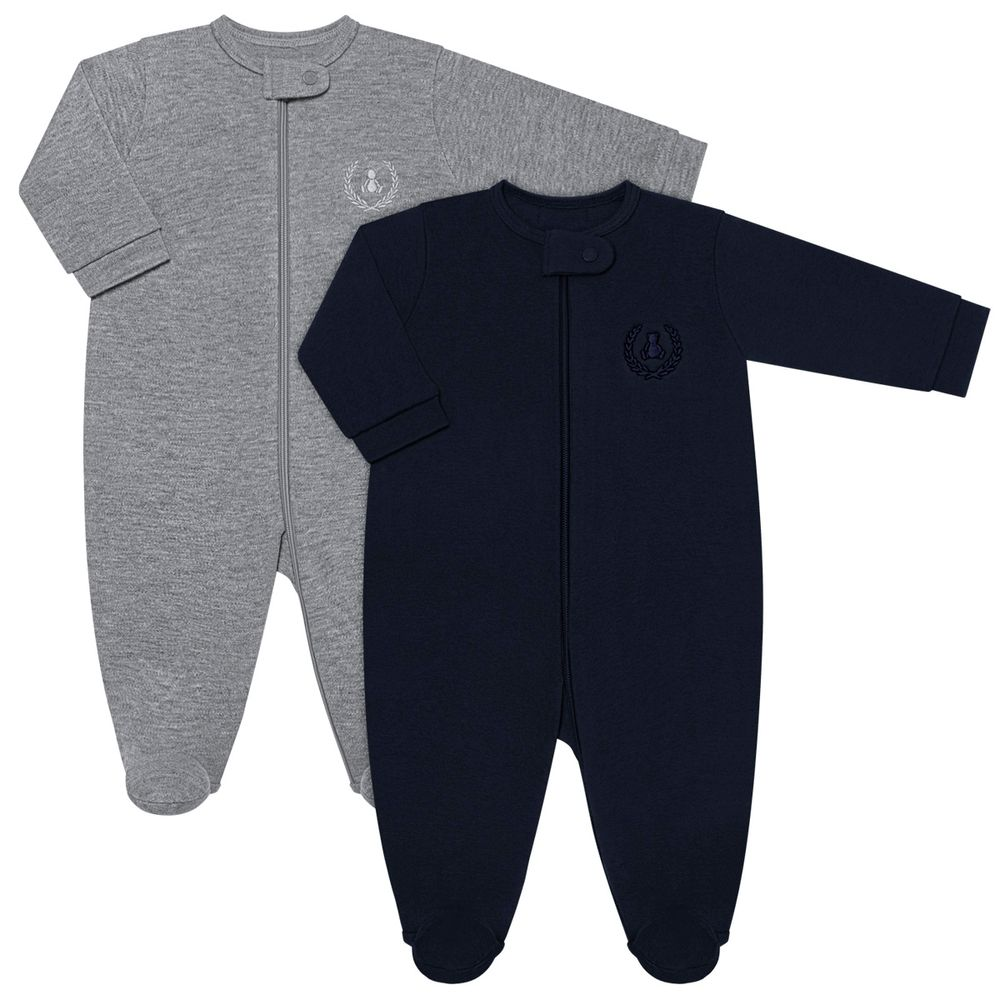 CQ20.097-17_A-moda-bebe-menino-menina-kit-2-macacaoes-longo-em-suedine-malha-mescla-marinho-coquelicot-no-bebefacil-loja-de-roupas-enxoval-e-acessorios-para-bebes
