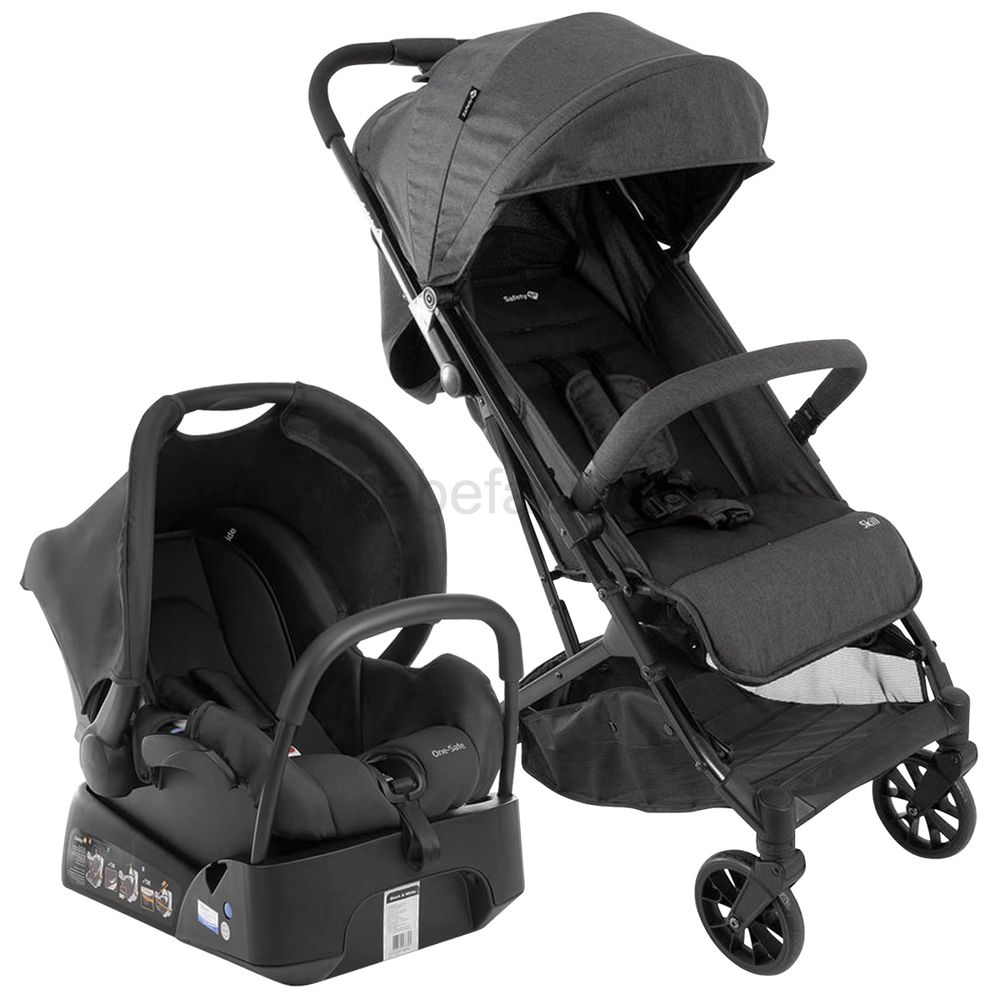 CAX00445-A-Travel-System-Carrinho-Skill-Black-Bebe-Conforto-c-Base-One-Safe-Black-Denim-0m---Safety-1st