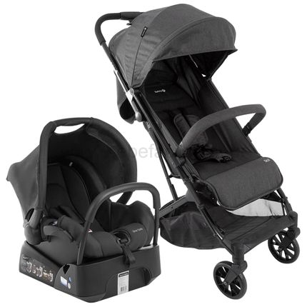 CAX00445-A-Travel-System-Carrinho-Skill-Black-Bebe-Conforto-c-Base-One-Safe-Black-Denim-0m---Safety-1st