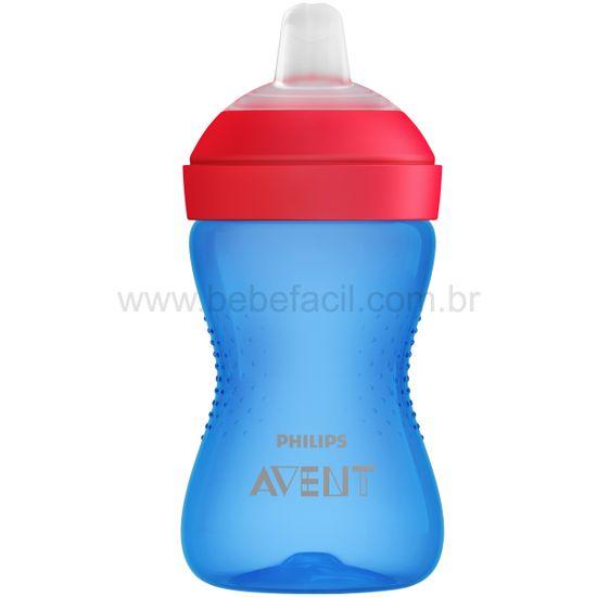 SCF802-01-A-Copo-de-Transicao-com-Bico-My-Grippy-Azul-Vermelho-300ml-9m---Philips-Avent