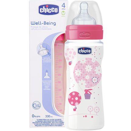 CH1021-A-Mamadeira-Fisiologica-Well-Being-330ml-Fluxo-Rapido-Rosa-4m---Chicco