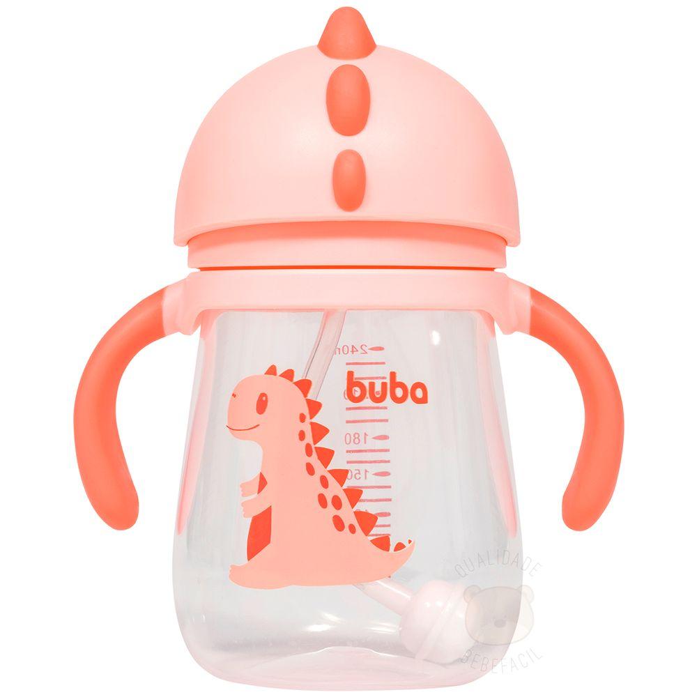 BUBA11825-A-Copo-com-Alca-e-Canudo-Dino-Girl-240ml-6m---Buba