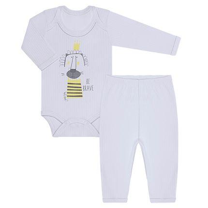 JUN31101_A-moda-bebe-menino-conjunto-body-longo-calca-em-malha-canelada-leaozinho-junkes-baby-no-bebefacil-loja-de-roupas-enxoval-e-acessorios-para-bebes
