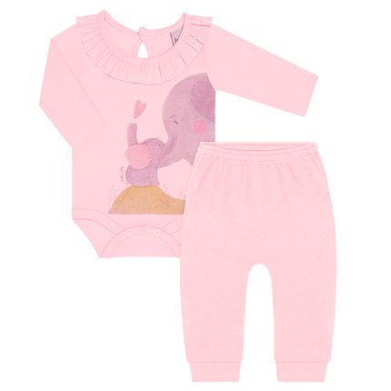 JUN40103_A-moda-bebe-menina-conjunto-body-longo-babadinhos-em-suedine-rosa-elefantinha-junkes-babay-no-bebefacil-loja-de-roupas-enxoval-e-acessorios-para-bebes