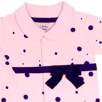 JUN40108-R_B-moda-bebe-menina-macacao-longo-em-suedine-poa---laco-rosa-junkes-baby-no-bebefacil-loja-de-roupas-enxoval-e-acessorios-para-bebes