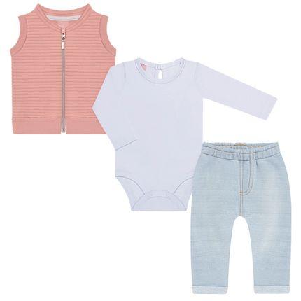 TMX0070-OF-P_A-moda-bebe-menina-conjunto-colete-body-longo-calca-saruel-em-moletom-rose-tmx-no-bebefacil-loja-de-roupas-enxoval-e-acessorios-para-bebes