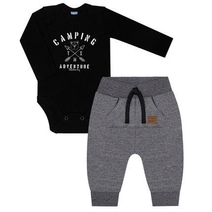 TMX4074-PT-P_A-moda-bebe-menino-conjunto-body-longo-calca-moletom-camping-preto-tmx-no-bebefacil-loja-de-roupas-enxoval-e-acessorios-para-bebes