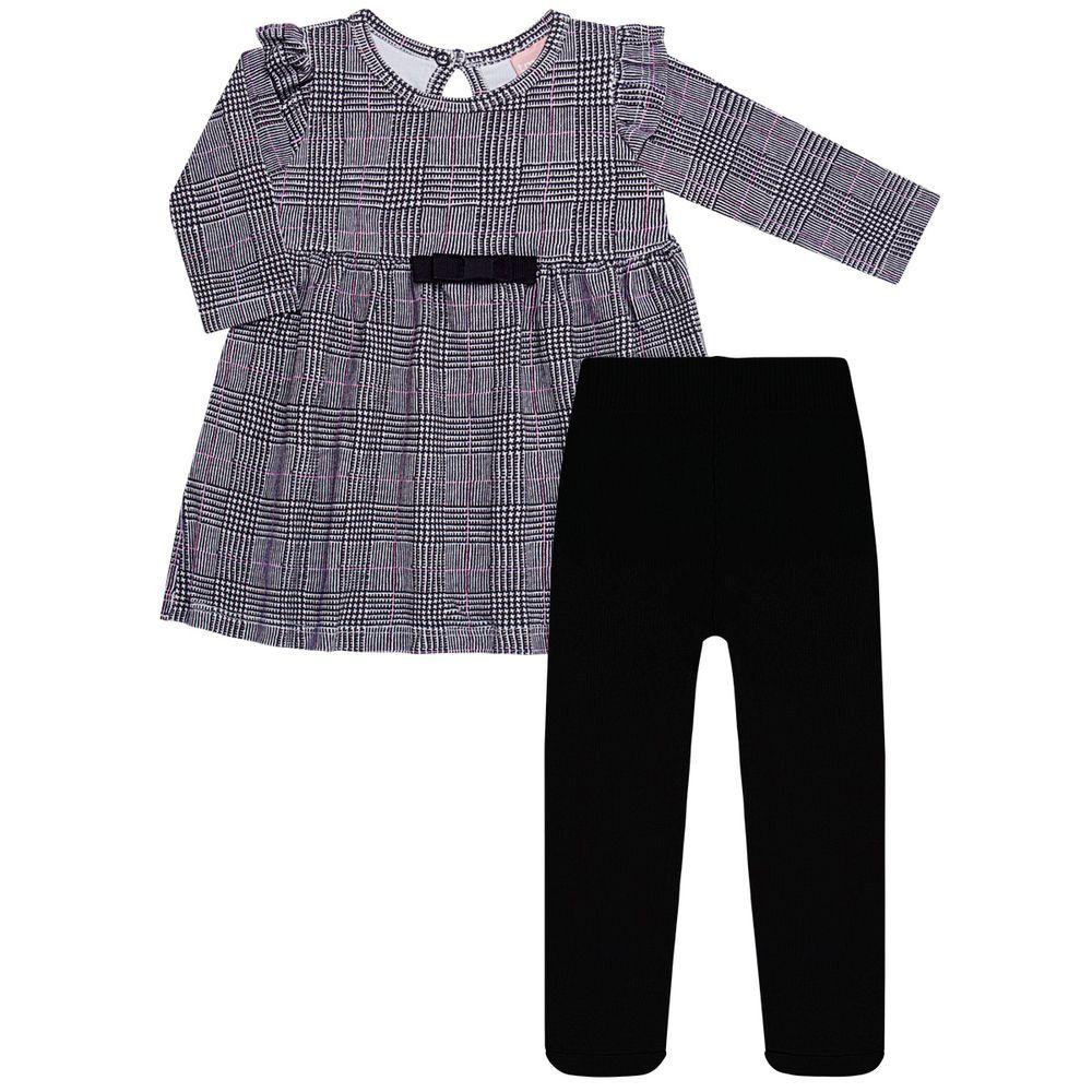 TMX0066-GA-P_A-moda-menina-vestido-meia-calca-cottom-principe-de-gales-tmx-no-bebefacil-loja-de-roupas-enxoval-e-acessorios-para-bebes