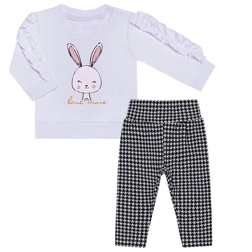 TMX0069-OF-P_A-moda-bebe-menina-conjunto-blusao-calca-Off-White-pied-de-poule-tmx-no-bebefacil-loja-de-roupas-enxoval-e-acessorios-para-bebes
