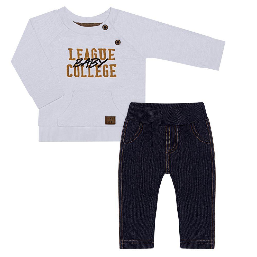 TMX4076-OF-P_A-moda-bebe-menino-conjunto-blusao-calca-saruel-jeans-off-white-tmx-no-bebefacil-loja-de-roupas-enxoval-e-acessorios-para-bebes