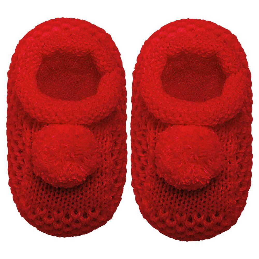 01019003007-A-sapatinho-bebe-menina-sapatinho-tricot-pom-pom-vermelho-roana-no-bebefacil-loja-de-roupas-enxoval-e-acessorios-para-bebes