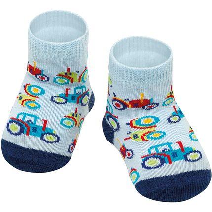 PK6902-TR-A-moda-bebe-menino-meia-soquete-tratorzinho-puket-no-bebefacil-loja-de-roupas-enxoval-e-acessorios-para-bebes
