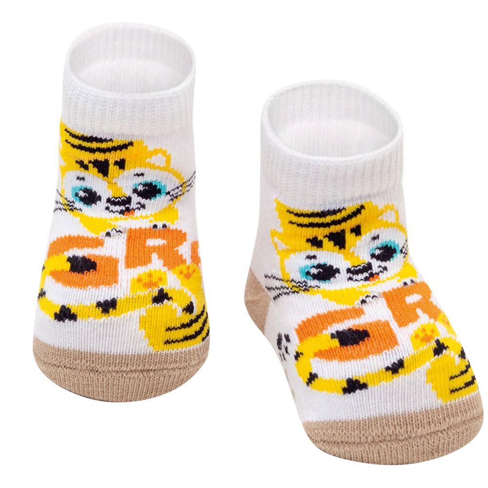 PK6902-TI-A-moda-bebe-menino-menina-meia-soquete-tigrinho-puket-no-bebefacil-loja-de-roupas-enxoval-e-acessorios-para-bebes