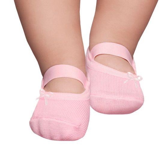 PK6926L-RS-A-moda-bebe-menina-meia-sapatinha-rosa-laco-puket-no-Bebefacil-loja-de-roupas-e-enxoval-para-bebes