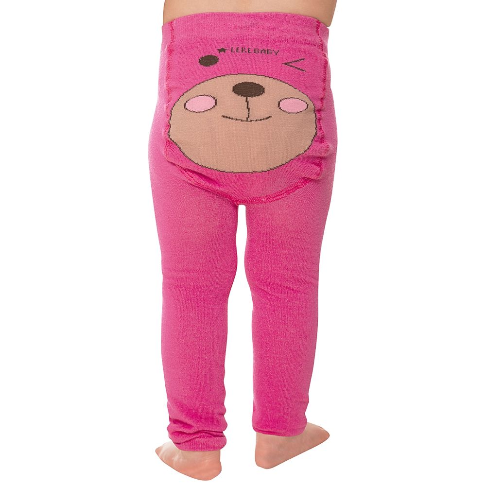 LK071.001-PINK-A-moda-menina-legging-para-bebe-em-algodao-ursinha-leke-no-bebefacil-loja-de-roupas-enxoval-e-acessorios-para-bebes