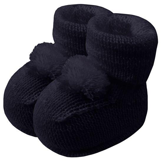 01019013008-A-sapatinho-bebe-menino-menina-botinha-tricot-pompom-marinho-roana-no-bebefacil-loja-de-roupas-enxoval-e-acessorios-para-bebes