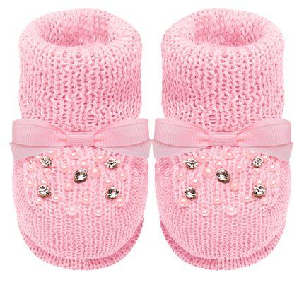 01419024046-A-sapatinhos-bebe-menina-botinha-em-tricot-strass-e-mini-perolas-rosa-roana-no-bebefacil-loja-de-roupas-enxoval-e-acessorios-para-bebes