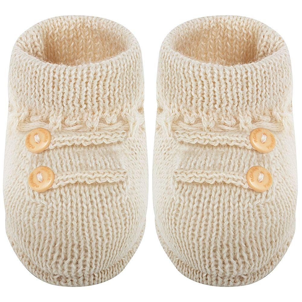 01019001005-B-sapatinho-bebe-menino-botinha-botoes-bege-roana-no-bebefacil-loja-de-roupas-enxoval-e-acessorios-para-bebes