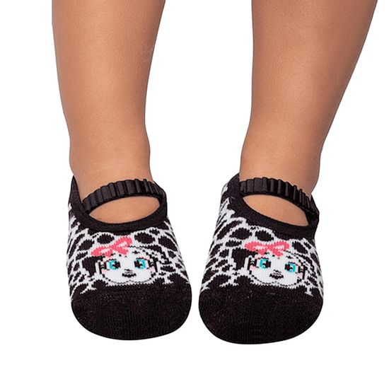 PK6939-DA-A-moda-menina-meia-sapatilha-dalmatas-puket-no-bebefacil-loja-de-roupas-enxoval-e-acessorios-para-bebes