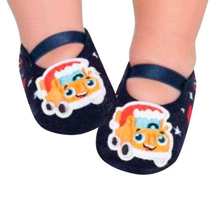 PK6939-TR-A-moda-menino-meia-sapatilha-carro-marinho-puket-no-bebefacil-loja-de-roupas-enxoval-e-acessorios-para-bebes