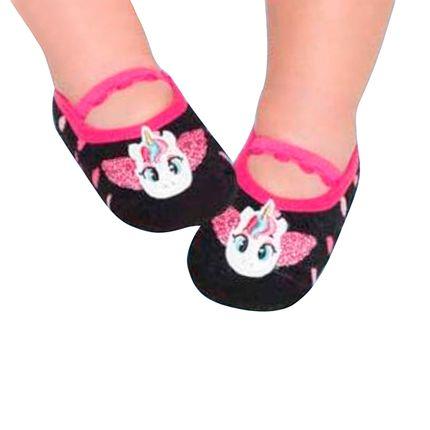 PK6939-NI-A-moda-menina-meia-sapatilha-unicornio-preto-pink-puket-no-bebefacil-loja-de-roupas-enxoval-e-acessorios-para-bebes