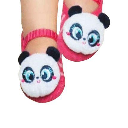 PK6957-PP-A-moda-menina-meia-sapatilha-pandinha-pink-puket-no-bebefacil-loja-de-roupas-enxoval-e-acessorios-para-bebes