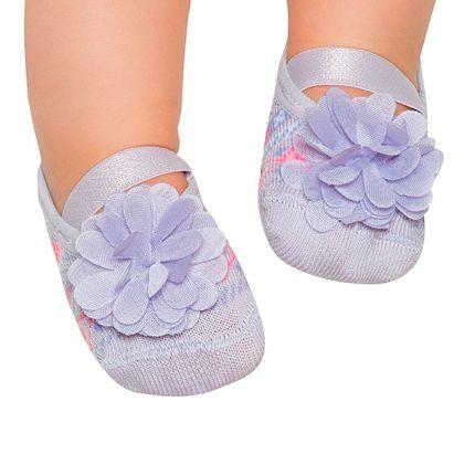 PK6939-LI-A-moda-bebe-menina-meia-sapatilha-geometric-flor-lilas-puket-no-bebefacil-loja-de-roupas-enxoval-e-acessorios-para-bebes