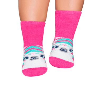 PK7049-LL-A-moda-bebe-menina-meia-soquete-pink-lhama-puket-no-bebefacil-loja-de-roupas-enxoval-e-acessorios-para-bebes