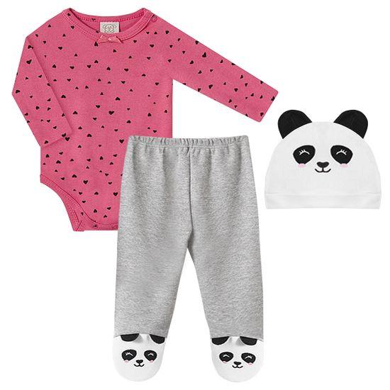PL66448-A-moda-bebe-menina-conjunto-body-longo-calca-touca-pandinha-pingo-lele-no-bebefacil-loja-de-roupas-enxoval-e-acessorios-para-bebes
