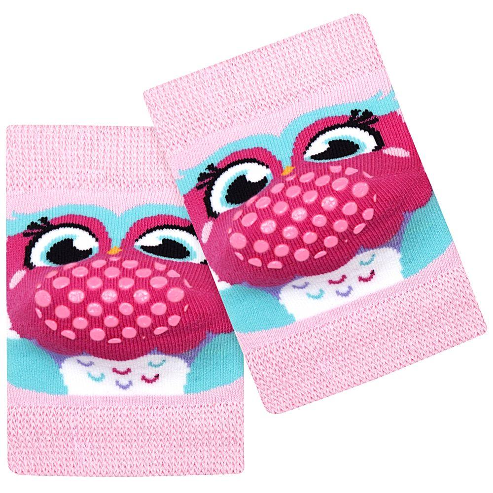 PK7004-CO-A-moda-bebe-menina-acessorios-joelheira-rosa-baby-coruja-puket-no-bebefacil-loja-de-roupas-enxoval-e-acessorios-para-bebes
