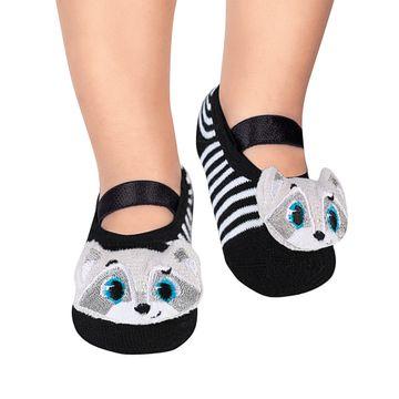 PK70339-A-moda-menino-meia-sapatilha-aplique-led-guaxinim-puket-no-bebefacil-loja-de-roupas-enxoval-e-acessorios-para-bebes
