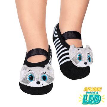 PK70339-B-moda-menino-meia-sapatilha-aplique-led-guaxinim-puket-no-bebefacil-loja-de-roupas-enxoval-e-acessorios-para-bebes