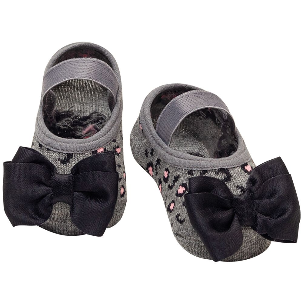 PK6939-OM-A-moda-bebe-menina-acessorios-meia-sapatilha-laco-mescla-onca-puket-no-bebefacil-loja-de-roupas-enxoval-e-acessorios-para-bebes