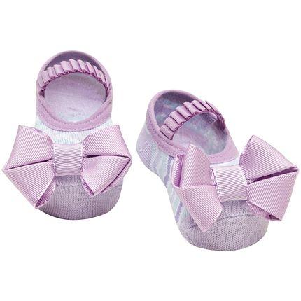 PK6939-LA-A-moda-bebe-menina-acessorios-meia-sapatilha-laco-lilas-puket-no-bebefacil-loja-de-roupas-enxoval-e-acessorios-para-bebes