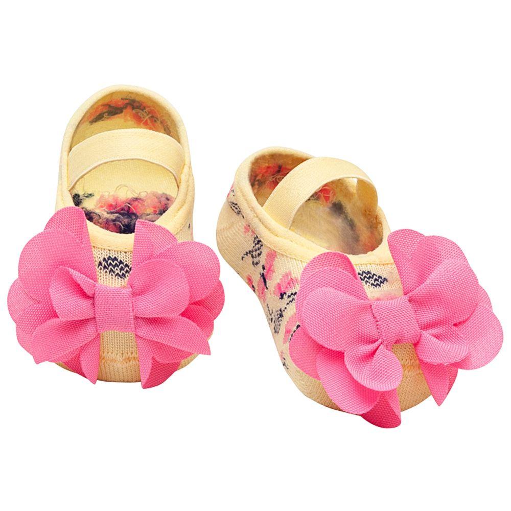 PK6939-AL-A-moda-bebe-menina-acessorios-meia-sapatilha-flor-amarelo-puket-no-bebefacil-loja-de-roupas-enxoval-e-acessorios-para-bebes