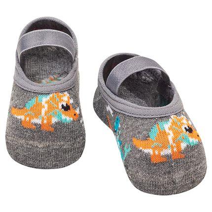 PK6926-DI-A-moda-bebe-menino-meia-sapatilha-dinossauros-mescla-puket-no-bebefacil-loja-de-roupas-enxoval-e-acessorios-para-bebes