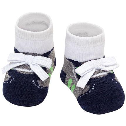 PK6936-ME-A-moda-bebe-menino-meia-soquete-soquete-laco-cadarco-mescla-puket-no-bebefacil-loja-de-roupas-enxoval-e-acessorios-para-bebes