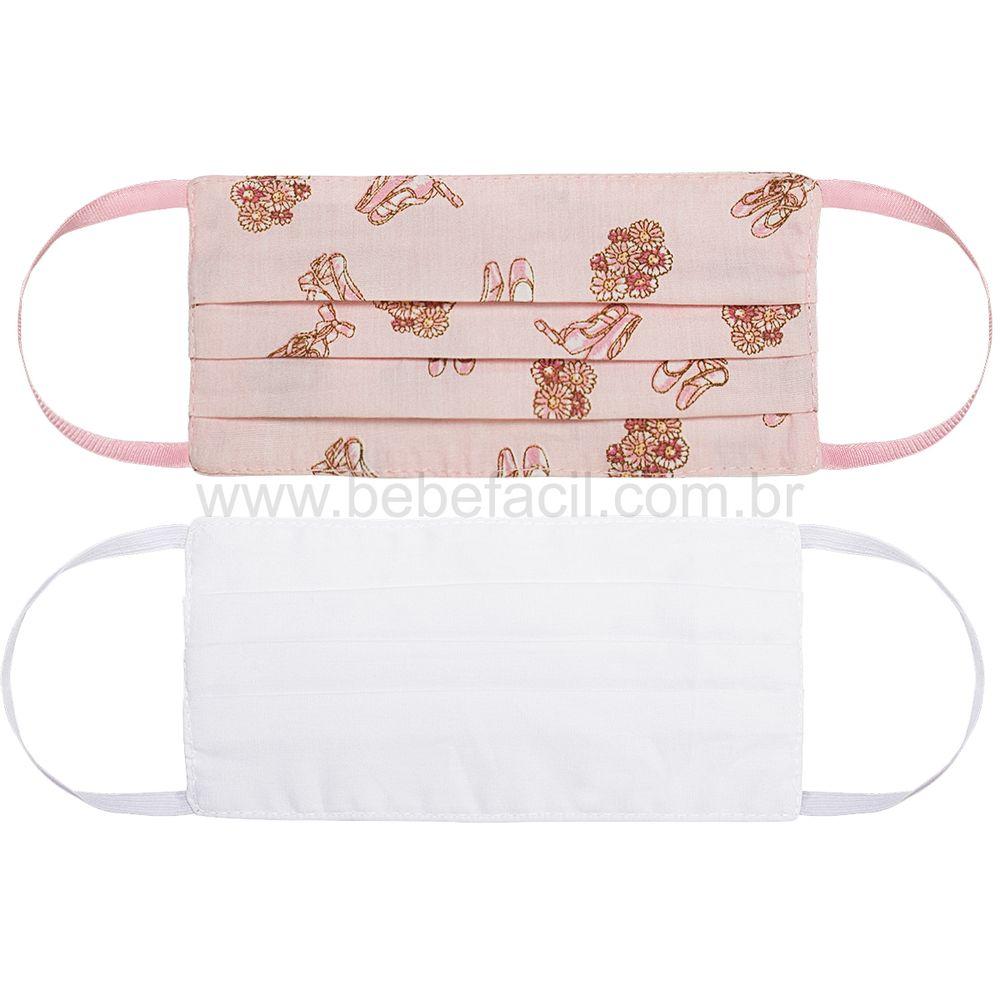 00012310250-A-cuidados-bebe-menina-mascara-de-protecao-kids-em-tecido-de-algodao-rosa-branca-roana-bebefacil-loja-de-roupas-enxoval-e-acessorios-para-bebe