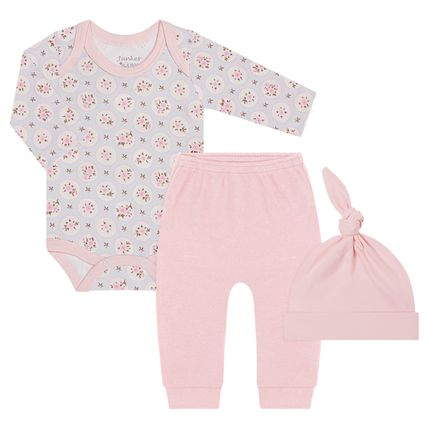 JUN40113_A-moda-bebe-menina-body-longo-com-calca-e-touca-em-algodao-egipcio-floral-junkes-baby-no-bebefacil-loja-de-roupas-enxoval-e-acessorios-para-bebes