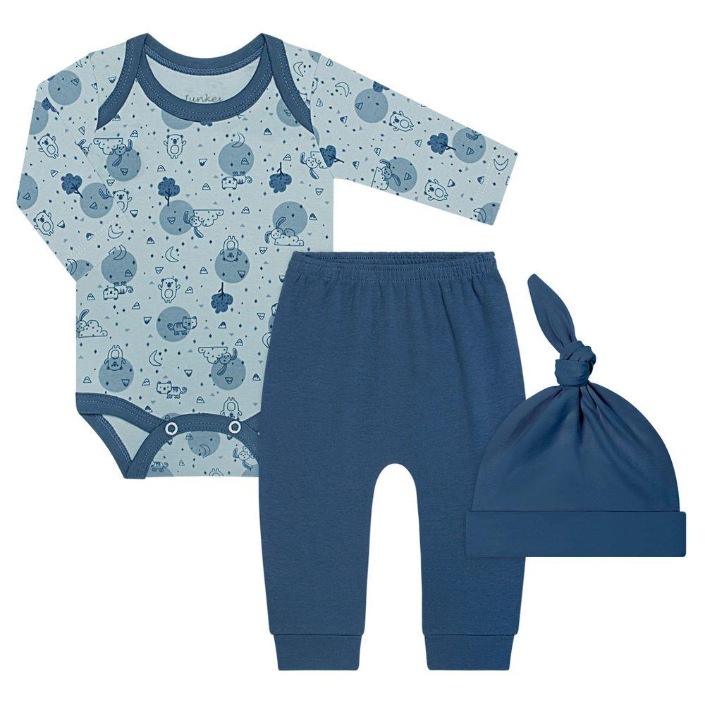 JUN41022_A-moda-bebe-menino-body-longo-com-calca-e-touca-em-algodao-egipcio-animal-friends-junkes-baby-no-bebefacil-loja-de-roupas-enxoval-e-acessorios-para-bebes