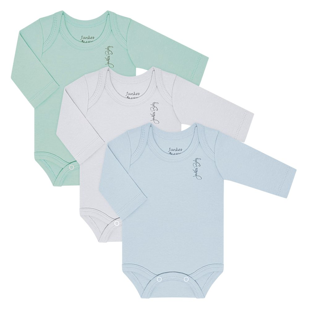 JUN21108_A-moda-bebe-menino-kit-3-bodies-longos-em-suedine-verde-branco-azul-junkes-baby-no-bebefacil-loja-de-roupas-enxoval-e-acessorios-para-bebes